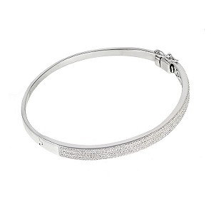 9ct white gold three quarter carat diamond bangle - Product number 6335101