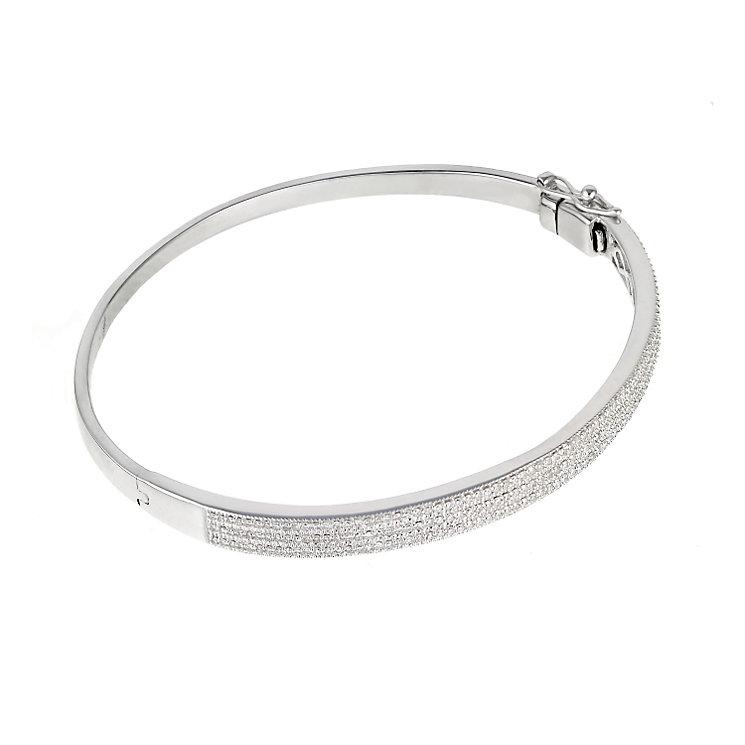 9ct white gold three 0.25ct diamond bangle - Product number 6335101