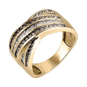 9ct Yellow Gold Half Carat Diamond Ring - Product number 6335993