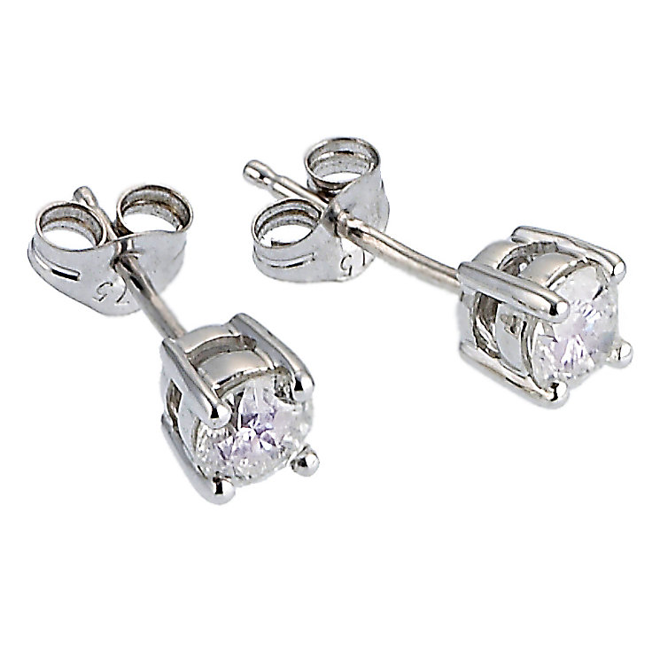 9ct White Gold Half Carat Stud Earrings - Product number 6339832