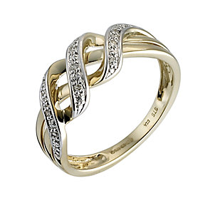 9ct Gold Diamond Ring - Product number 6340733