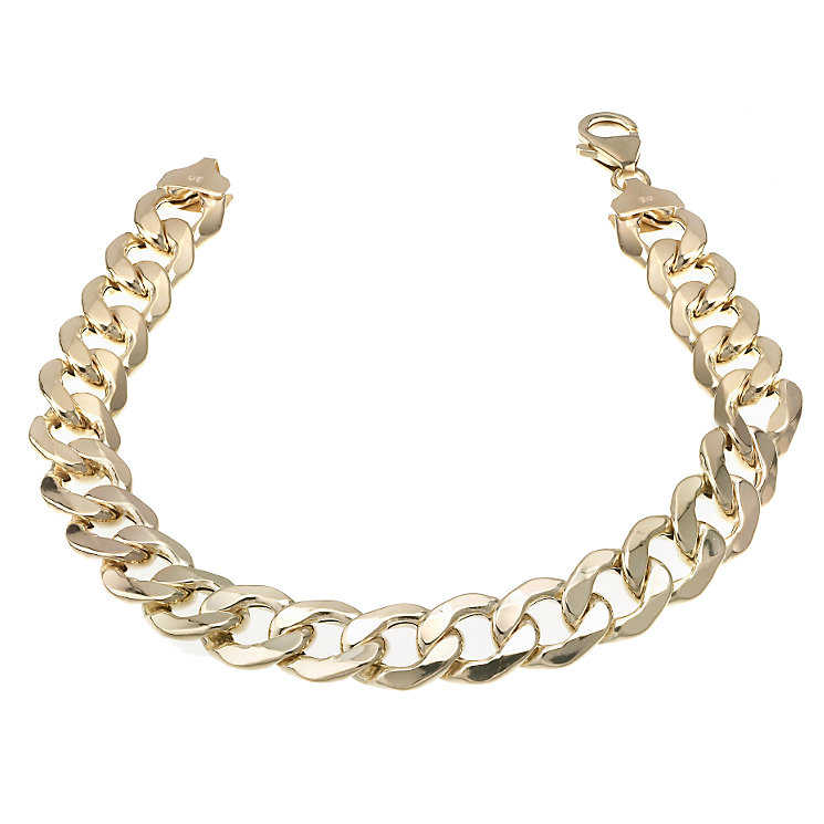 "9ct Gold 8.5"" Curb Bracelet - Product number 6342604"