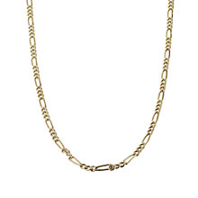 "9ct Yellow Gold 18"" Figaro Necklace - Product number 6343414"