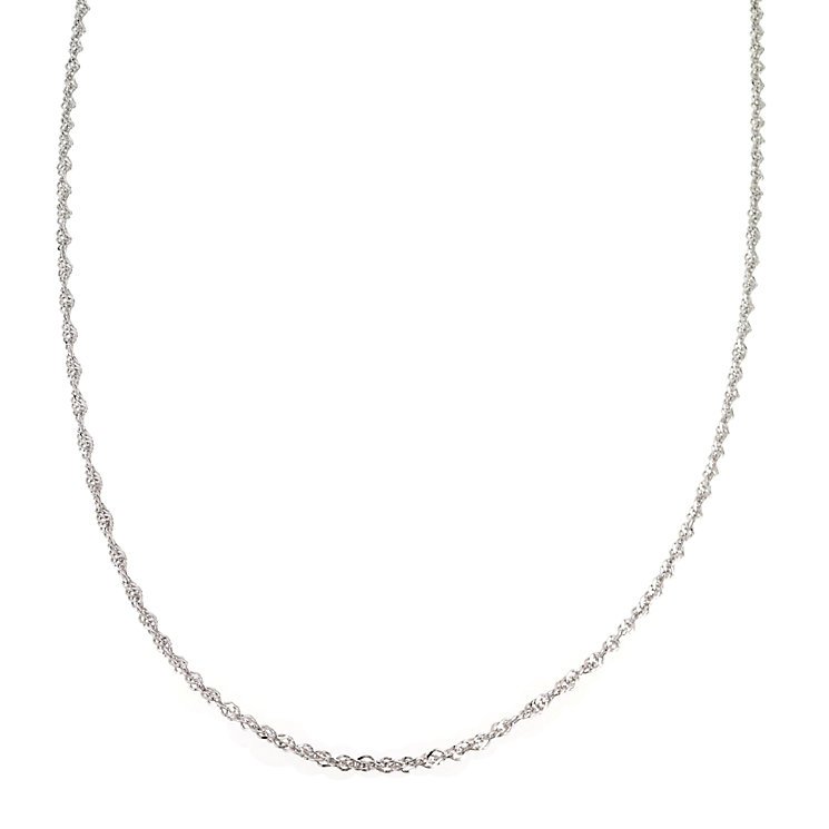 "9ct White Gold 18"" Singapore Chain - Product number 6343473"
