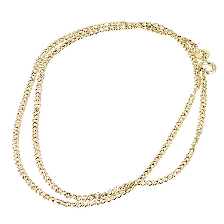 "9ct Gold 16"" Hollow Curb Chain - Product number 6343554"