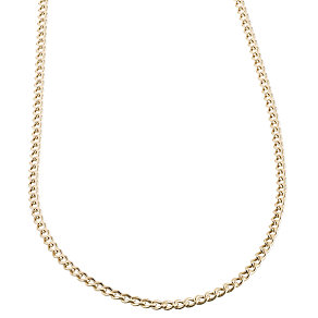 "9ct Gold 18"" Hollow Curb Chain - Product number 6343562"