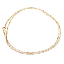 "9ct Gold 20"" Hollow Curb Chain - Product number 6343570"