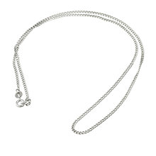"9ct White Gold 18"" Hollow Curb Chain - Product number 6343600"