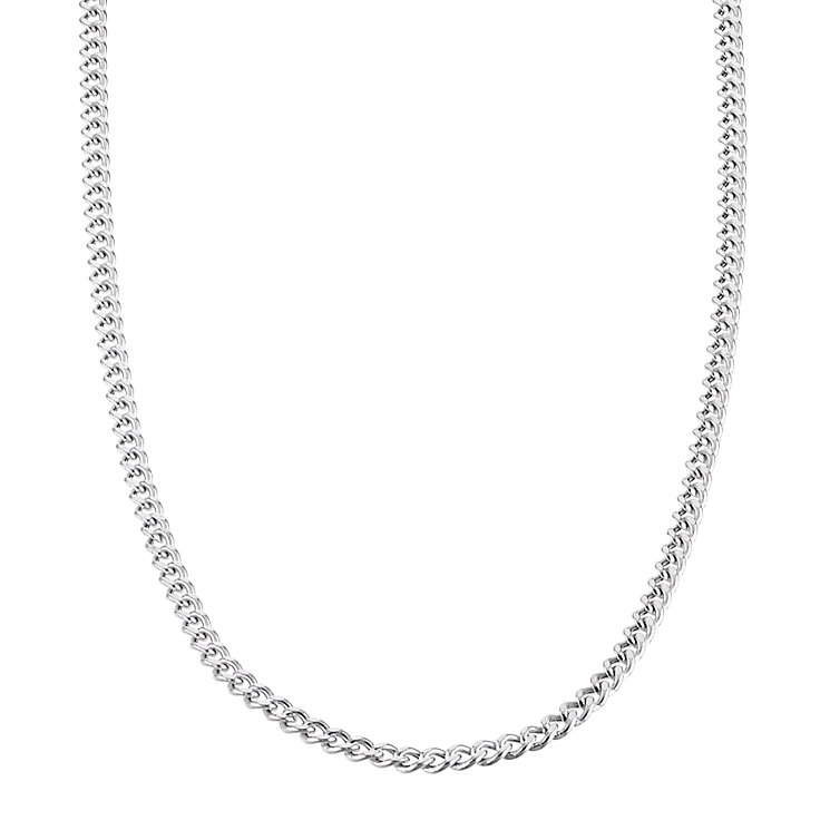 "9ct White Gold 20"" Hollow Curb Chain - Product number 6343619"