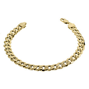 "9ct Yellow Gold 8"" Curb Bracelet - Product number 6344151"