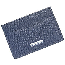 Hugo Boss Signature Men's Dark Blue Leather Card Holder - Product number 6344674