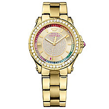 Juicy Couture Gold Plated Stainless Steel Bracelet Watch - Product number 6347622