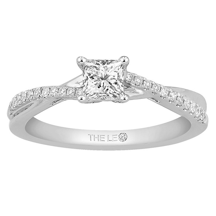 Leo Diamond 18ct White Gold 0.50ct Diamond Twist Ring - Product number 6349951