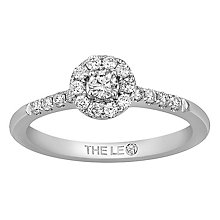 Leo Diamond 18ct White Gold 0.33ct Diamond Halo Ring - Product number 6350097