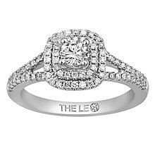 Leo Diamond 18ct White Gold 0.63ct Diamond Double Halo Ring - Product number 6350836