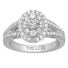 Leo Diamond 18ct White Gold 1ct Diamond Double Halo Ring - Product number 6351018