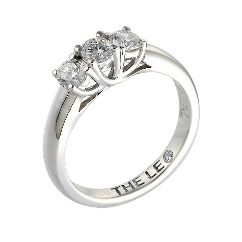Platinum half carat Leo Diamond trilogy ring