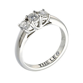 Leo Diamond platinum 0.50ct I-SI2 three diamond ring - Product number 6352170