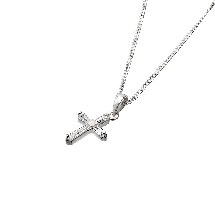 Sterling Silver and Cubic Zirconia Cross and Bible Box - Product number 6352588