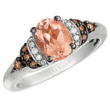 Le Vian 14ct Vanilla Gold Peach Morganite & Diamond Ring - Product number 6355986