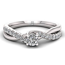 The Diamond Story 18ct White Gold 0.50ct Diamond Twist Ring - Product number 6356982