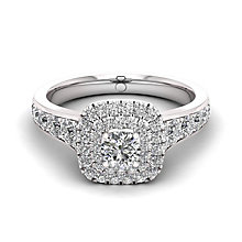 The Diamond Story 18ct White Gold 1ct Double Halo Ring - Product number 6359760
