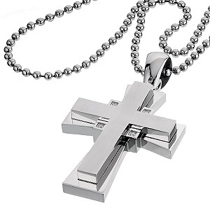Simmons Jewelry Co. Four Diamond Crucifix - Product number 6360491