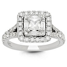 Neil Lane Bridal 14ct White Gold 1.28ct Diamond Halo Ring - Product number 6360890