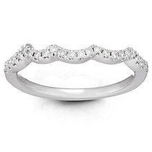 Neil Lane Bridal 14ct White Gold 0.14ct Diamond Shaped Band - Product number 6361404