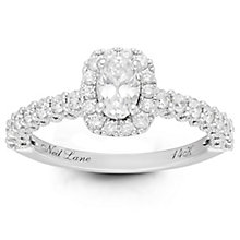 Neil Lane Bridal 14ct White Gold 1ct Diamond Halo Ring - Product number 6362079