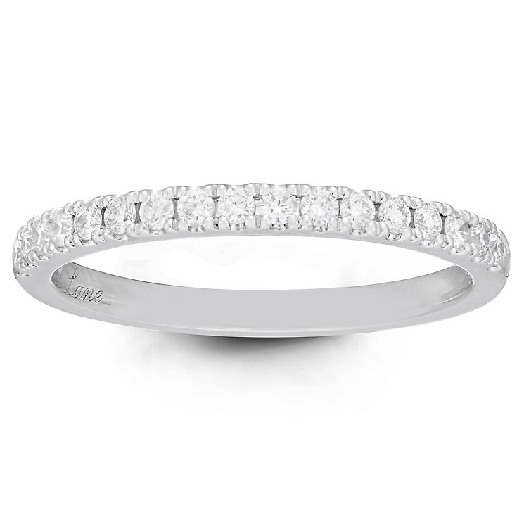 Neil Lane Bridal 14ct White Gold 0.23ct Diamond Shaped Band - Product number 6362478