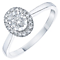 9ct White Gold 0.25ct Diamond Oval Illusion Halo Ring - Product number 6363032