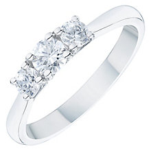 Platinum 0.50ct 3 Stone Diamond Ring - Product number 6365272
