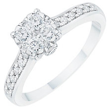 Platinum 0.45ct Diamond Cluster Ring - Product number 6365930