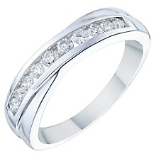 18ct White Gold 0.33ct Diamond Crossover Eternity Ring - Product number 6367917