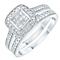 9ct White Gold 0.50ct 9 Stone Diamond Bridal Set - Product number 6368840
