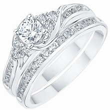 18ct White Gold 0.75ct Diamond Bridal Set - Product number 6369499