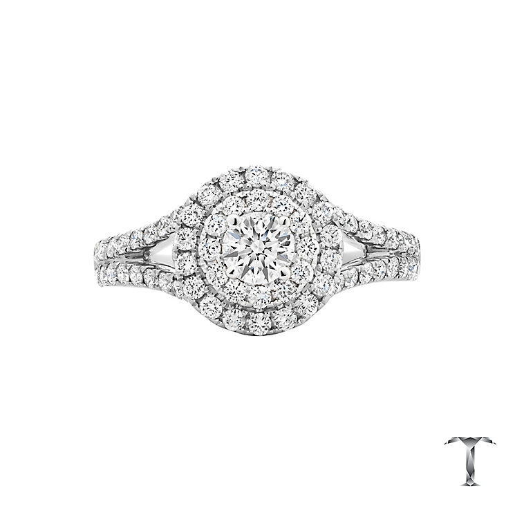 Tolkowsky 18ct White Gold 1ct Double Halo Ring - Product number 6372406
