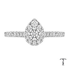 Tolkowsky 18ct White Gold 0.50ct Diamond Pear Halo Ring - Product number 6372546