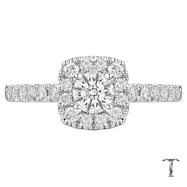 Tolkowsky 18ct White Gold 0.75ct Cushion Diamond Halo Ring - Product number 6373402