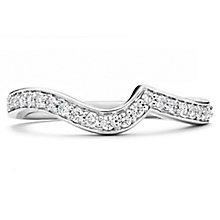 18ct White Gold 0.25ct Diamond Shaped Wedding Band - Product number 6373917