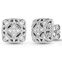 Neil Lane Designs Sterling Silver 0.15ct Diamond Earrings - Product number 6374212