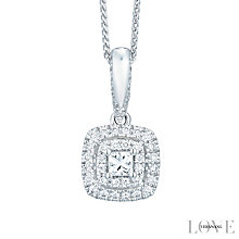 Vera Wang 18ct White Gold 0.37ct Diamond Halo Pendant - Product number 6374832