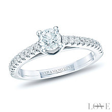 Vera Wang 18ct White Gold 0.68ct Diamond Solitaire Ring - Product number 6375634