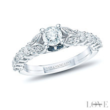 Vera Wang 18ct White Gold 0.90ct Diamond Ring - Product number 6375782