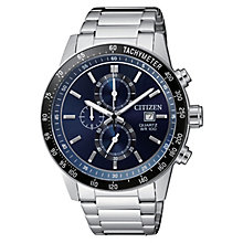 Citizen Men's Blue Dial Stainless Steel Bracelet Watch - Product number 6376819