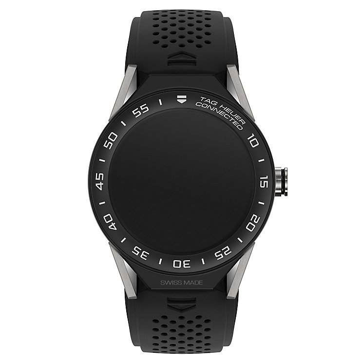 tag heuer watches quality swiss watches ernest jones watches tag heuer connected modular 45 black strap smart watch product number 6380557
