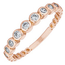 9ct Rose Gold Round Cubic Zirconia Ring - Product number 6381294