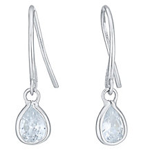 9ct White Gold Cubic Zirconia Drop Earrings - Product number 6381588