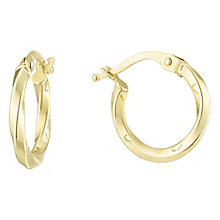 9ct Yellow Gold Creole Earrings - Product number 6382541